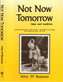 Image of book, Alice M Bowman seated, her best friend Joyce McGahan standing, Namanula Hospital, Rabaul - link to HomePage